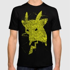 Yellow Monster SMALL Mens Fitted Tee Black