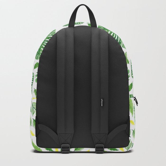 Palm leaf pattern Backpack