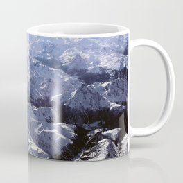 White mountains with snow winter nature Coffee Mug