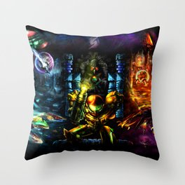 Metroid: 25 Years Throw Pillow