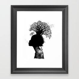 Natural Black Woman Framed Art Print
