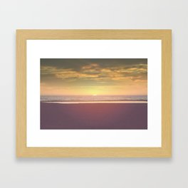 Santa Monica Sunset Framed Art Print