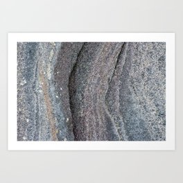 Multi Coloured rock Art Print