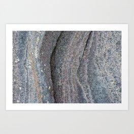 Multi Coloured rock Art Print