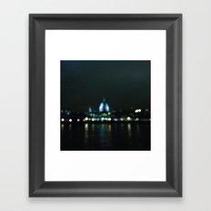 St Pauls in lights Framed Art Print