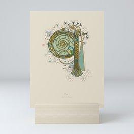 Celtic Initial Q Mini Art Print