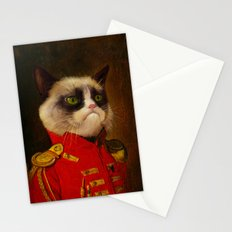 The cat is Grumpy Stationery Cards