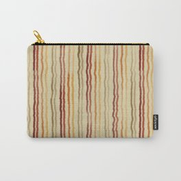 Watercolor Stripes in Burgundy, Orange, Apricot Carry-All Pouch