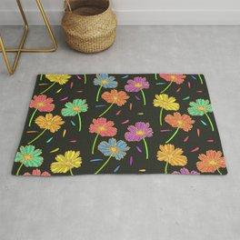 Dark Florals- Multi Coloured Rug
