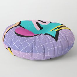 Memphis Pattern 10 - 90s - Retro Floor Pillow