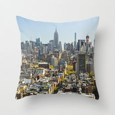 New York City from Tribeca. Throw Pillow