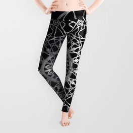 Fire Blossom - Black Leggings