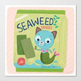 Purrmaid Seaweed Snacks Canvas Print