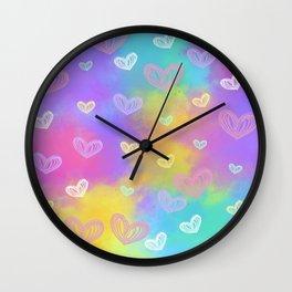 Colorful Heart Drawings Ver.3 Wall Clock