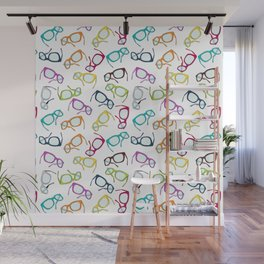 Hipster Glasses Wall Mural