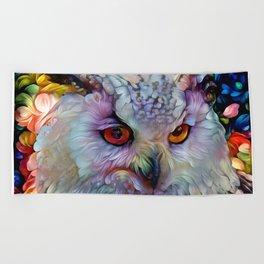 Ethereal Owl Beach Towel