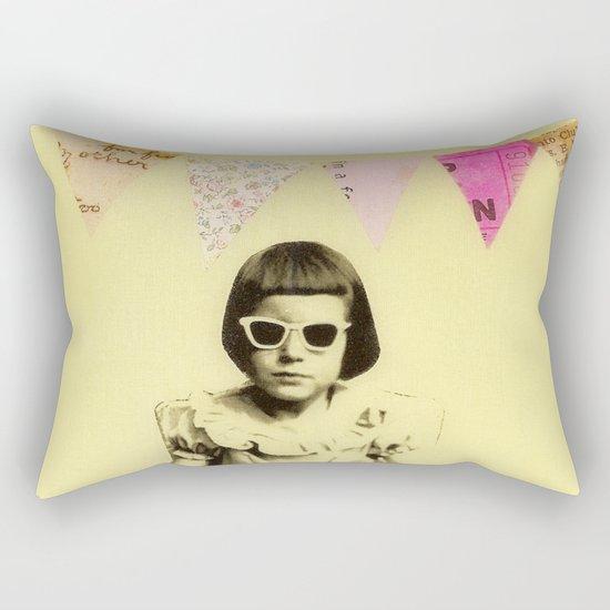 """Partially Amused"" Rectangular Pillow"