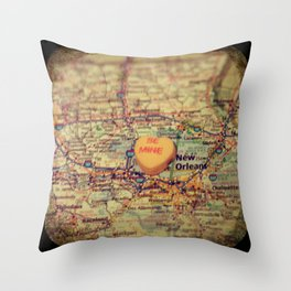 Be Mine New Orleans Throw Pillow