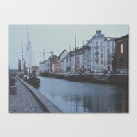 copenhagen Canvas Prints featuring Copenhagen by Gabriri