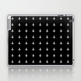 White Crosses Halloween Pattern   Minimalism Laptop & iPad Skin