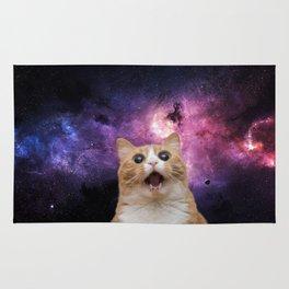 Space Selfie Cat Rug