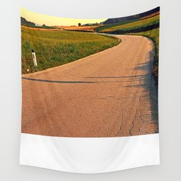 Country road up to the village   landscape photography Wall Tapestry