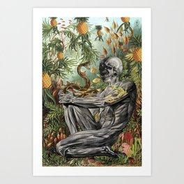 "bedelgeuse ""indomitable"" anatomical collage art Art Print"