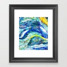 Geometric Wave Framed Art Print