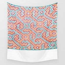 Song to Bring Vision & Insight - Traditional Shipibo Art - Indigenous Ayahuasca Patterns Wall Tapestry