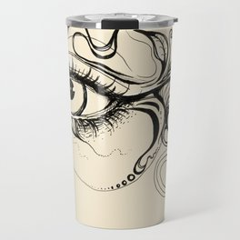 Eye Fish Doodle Travel Mug