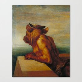 George Frederic Watts - The Minotaur Canvas Print