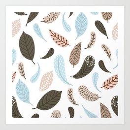boho leaves Art Print