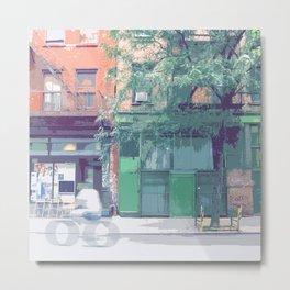 Bleeker St, New York Streetscape Metal Print