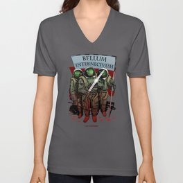 A war of extermination. Special red edition Unisex V-Neck