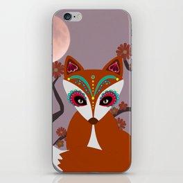 Autumn Sugar Skull Fox iPhone Skin