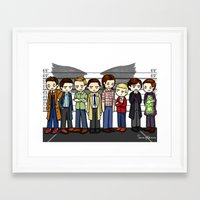 superwholock Framed Art Prints featuring SuperWhoLock by ShockingBlankets
