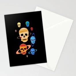 Skull Planets Stationery Cards