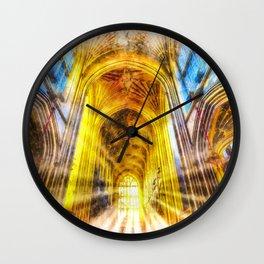 Bath Abbey Sun Rays Art Wall Clock