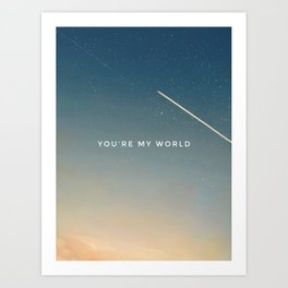 The Stars and You Art Print