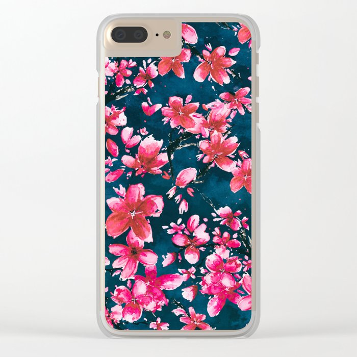 Red Moods Clear iPhone Case