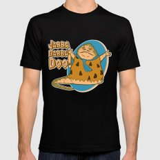 Jabba dabba doo!! Mens Fitted Tee Black LARGE