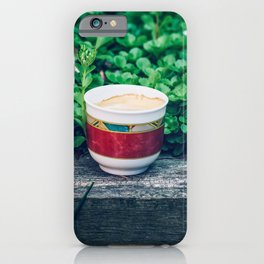 Coffee in the garden iPhone Case