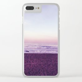 Lavender Skies Clear iPhone Case
