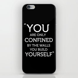 The Walls you Build Yourself - Typography Poster. iPhone Skin