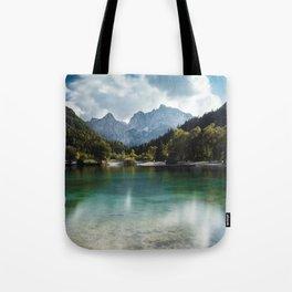 Lake Jasna in Kranjska Gora, Slovenia Tote Bag