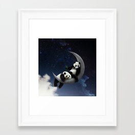you're the panda to my moon. Framed Art Print