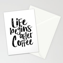 life begins after coffee,but first coffee,coffee sign,kitchen sign,home decor wall art,morning Stationery Cards
