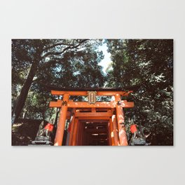 Fushimi Inari Shrine in Japan Canvas Print