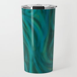 teal swirl Travel Mug
