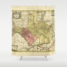 Map of Ukraine (1705) Shower Curtain